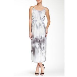 Halston Heritage Print Silk Charmeuse Maxi Dress